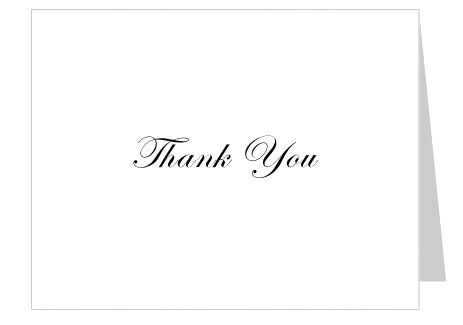 Free Thank You Card Template Simple No Background Word Openoffice Compatible Insert Your