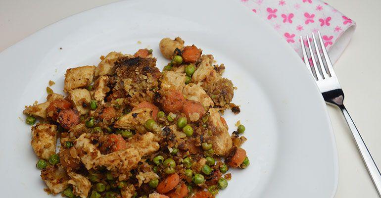 gezonde kip met bloemkool rijst