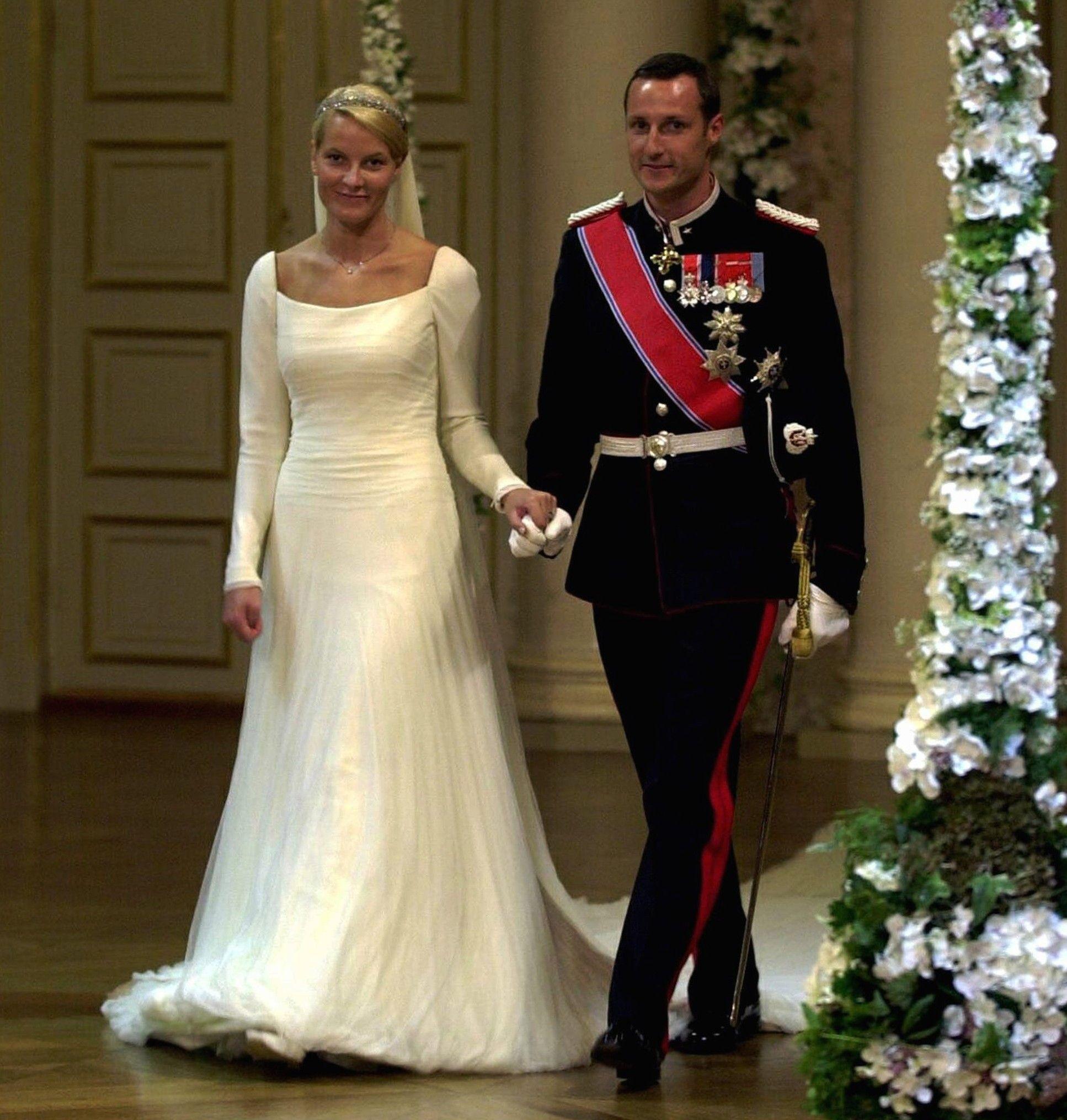Kronprins Haakon and Mette-Marit Tjessem Høiby  Royal wedding