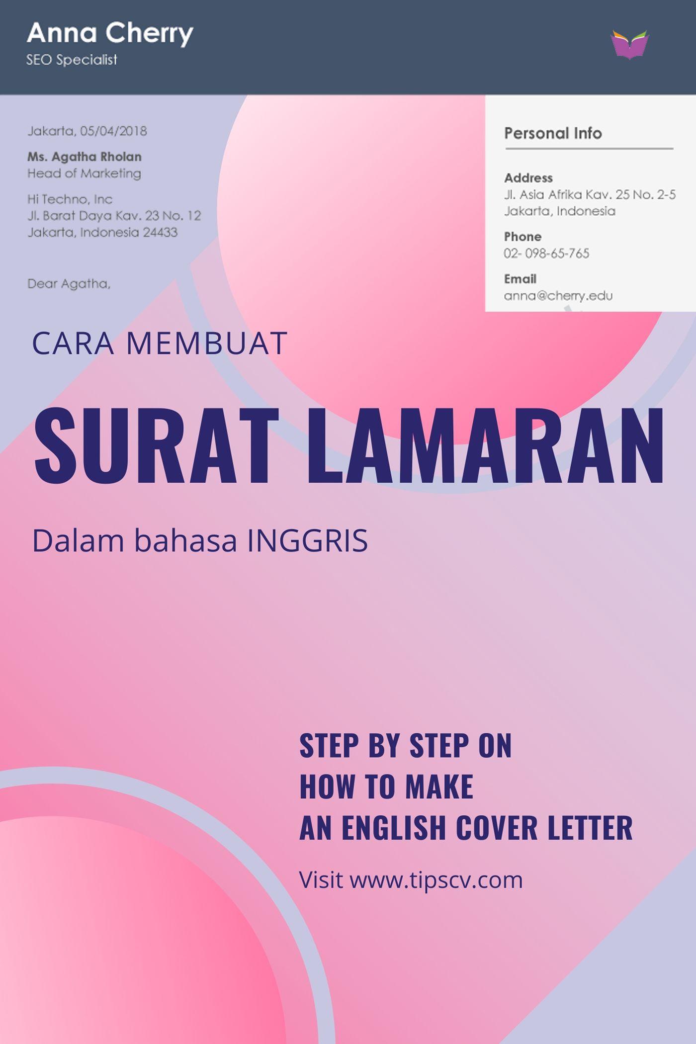 Contoh Surat Lamaran Kerja Bahasa Inggris [Updated] di