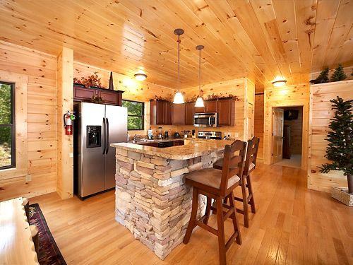Log home kitchens modern wood.