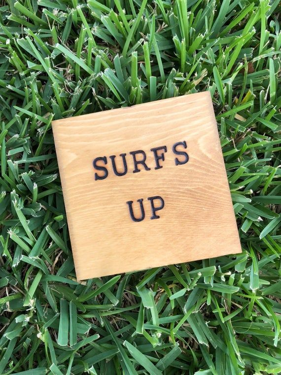 Surfs Up | MINI Wood Signs | Wood Signs | Surfing Home Decor | Surfs Up | Small Wood Signs  | Cute W #surfsup