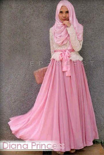 Baju Muslim Wanita Diana Princess Set +Phasmina + Ikat Pinggang ... 65f62e6bf2