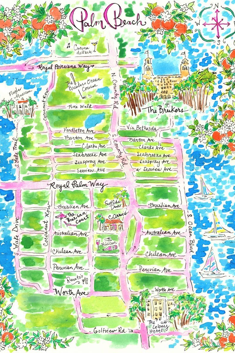 Palm beach zoo map | Art | Pinterest | Palm beach and Beach