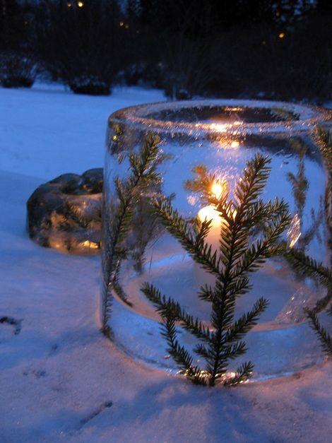 ice sculptures...