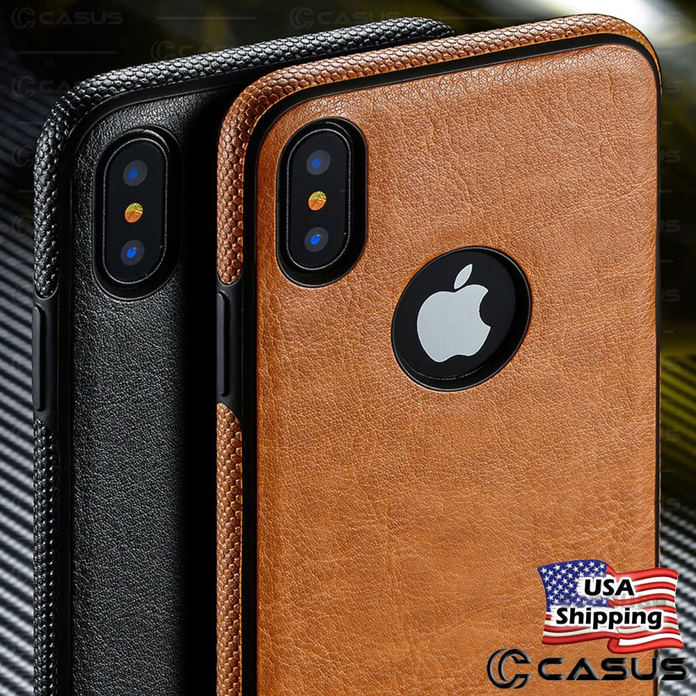 For apple iphone xs max xr slim luxury leather back ultra