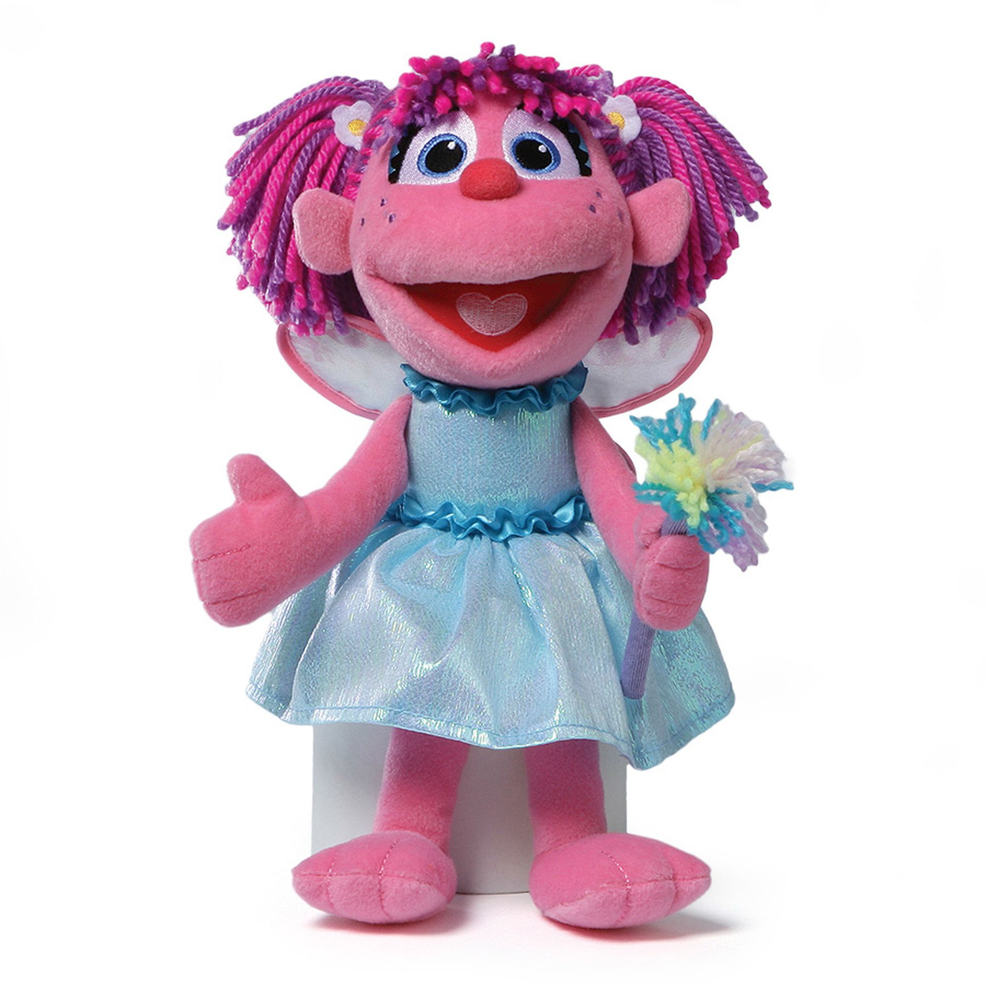 """Sesame Street's Abby as a 12"""" tall friend in soft pink plush with embroidered…"""