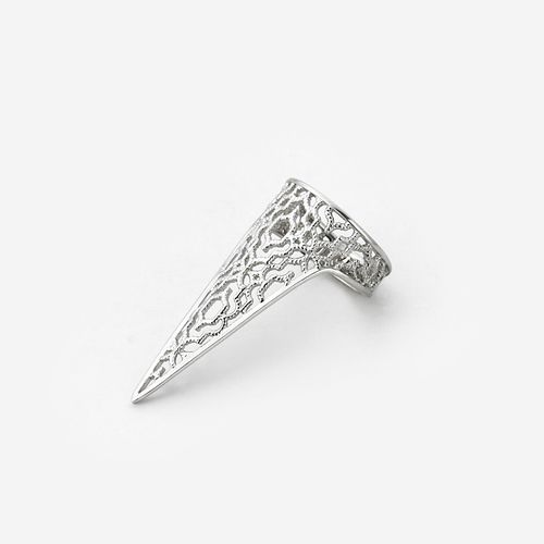 Silver Filigree Spoke Triangle Ring by ISHARYA Jewelry.  delicate rings, rings, jewelry rings
