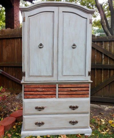 Shabby Chic Rustic Farmhouse Armoire by antique2chic on Etsy, $650.00