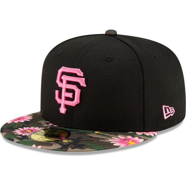 7e4f0bc8 Men's San Francisco Giants New Era Black Floral Morning 59FIFTY ...