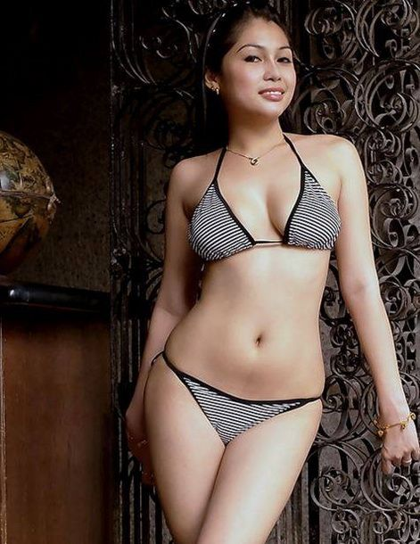 Sexy Filipina In A Stripped Bikini Filipino Sexygirl Philippines Hotgirl