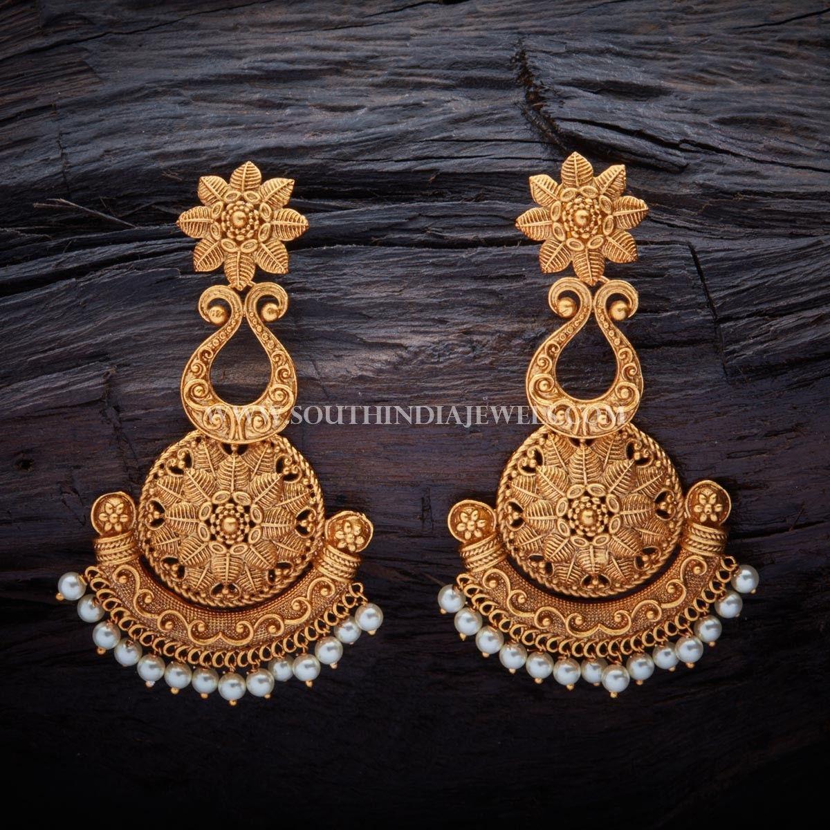 Matt Finish Antique Earrings Design | Indian jewellery ...