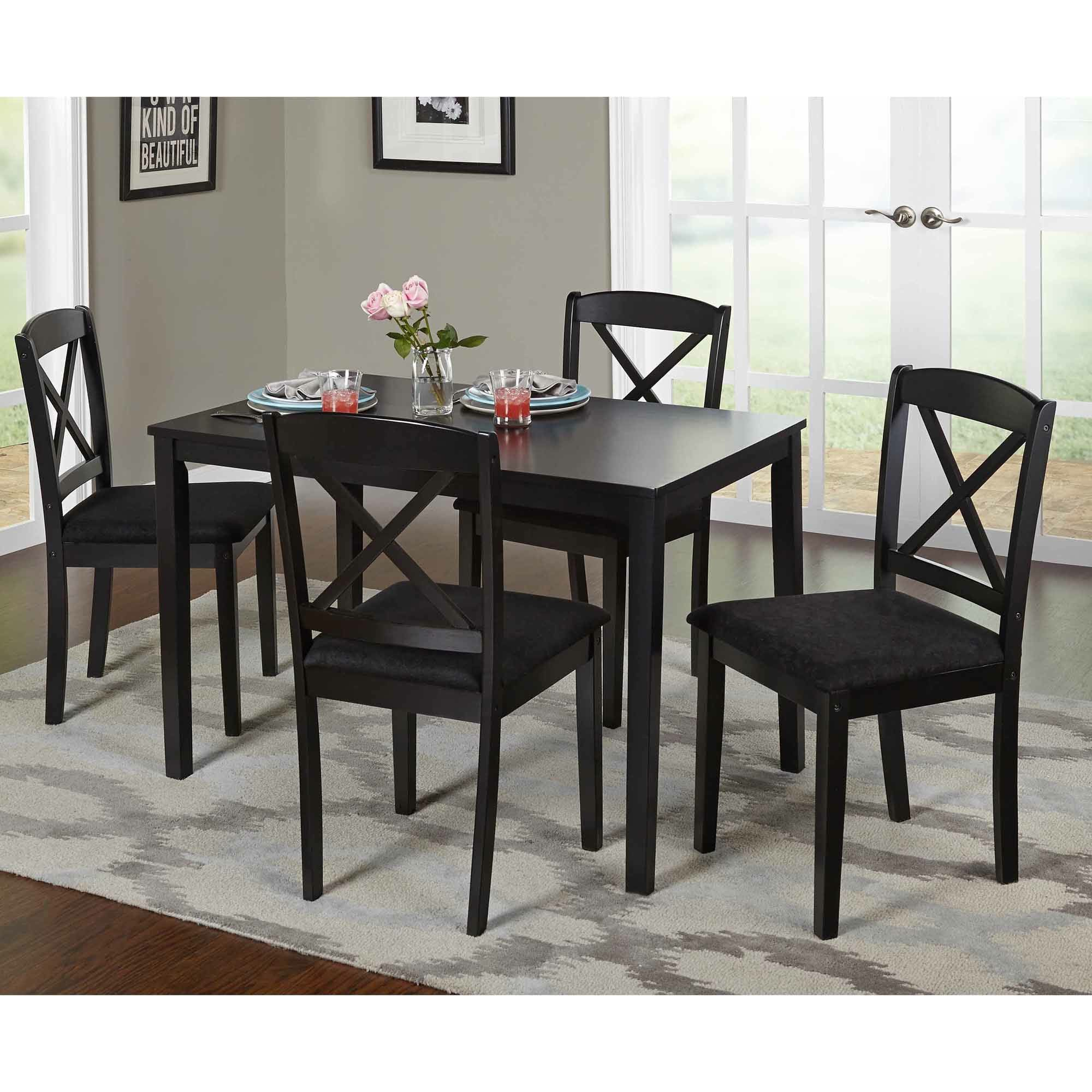 Tiny Dinette Sets Walmart Canada Kitchen Table And Chairs Table And Chairs Dining Table Black Dining Furniture Sets Dining Room Small