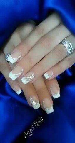 42 ideas wedding nails for bride acrylic gems  valentine