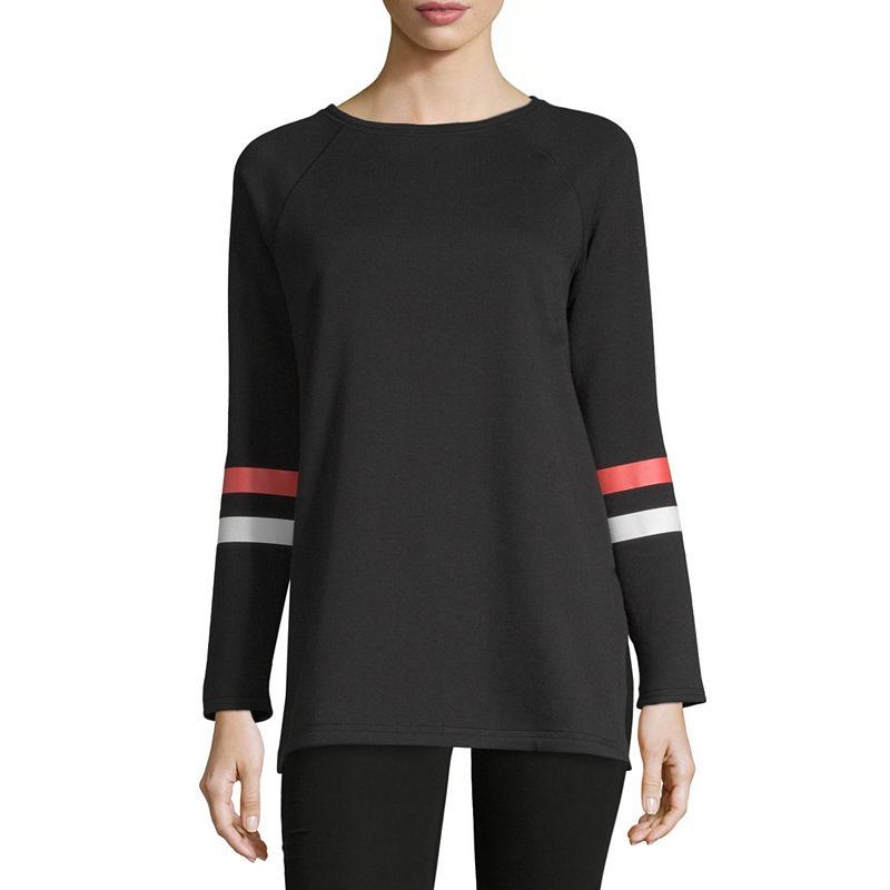 0e38daeb Liz Claiborne Weekend Womens Scoop Neck Long Sleeve Tunic Top ...