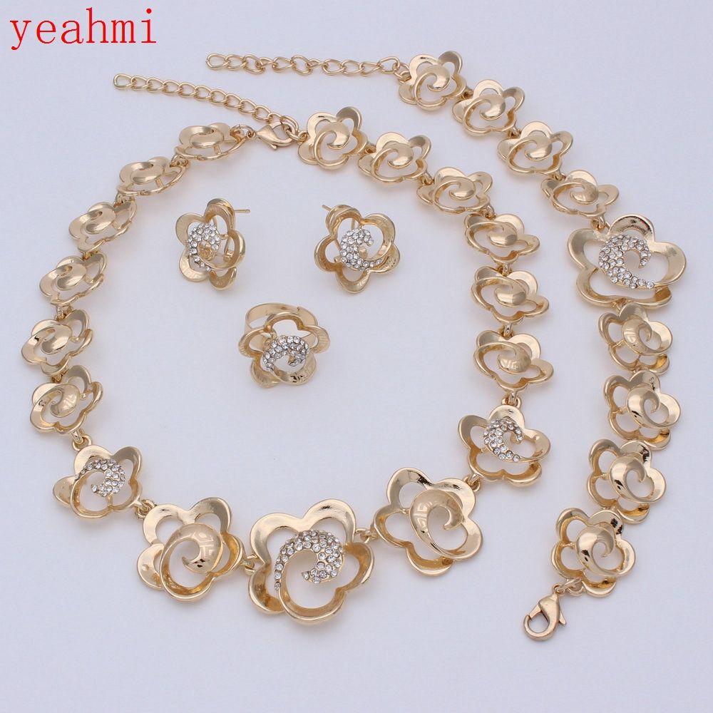 African big jewelry sets wedding jewellery women crystal necklace