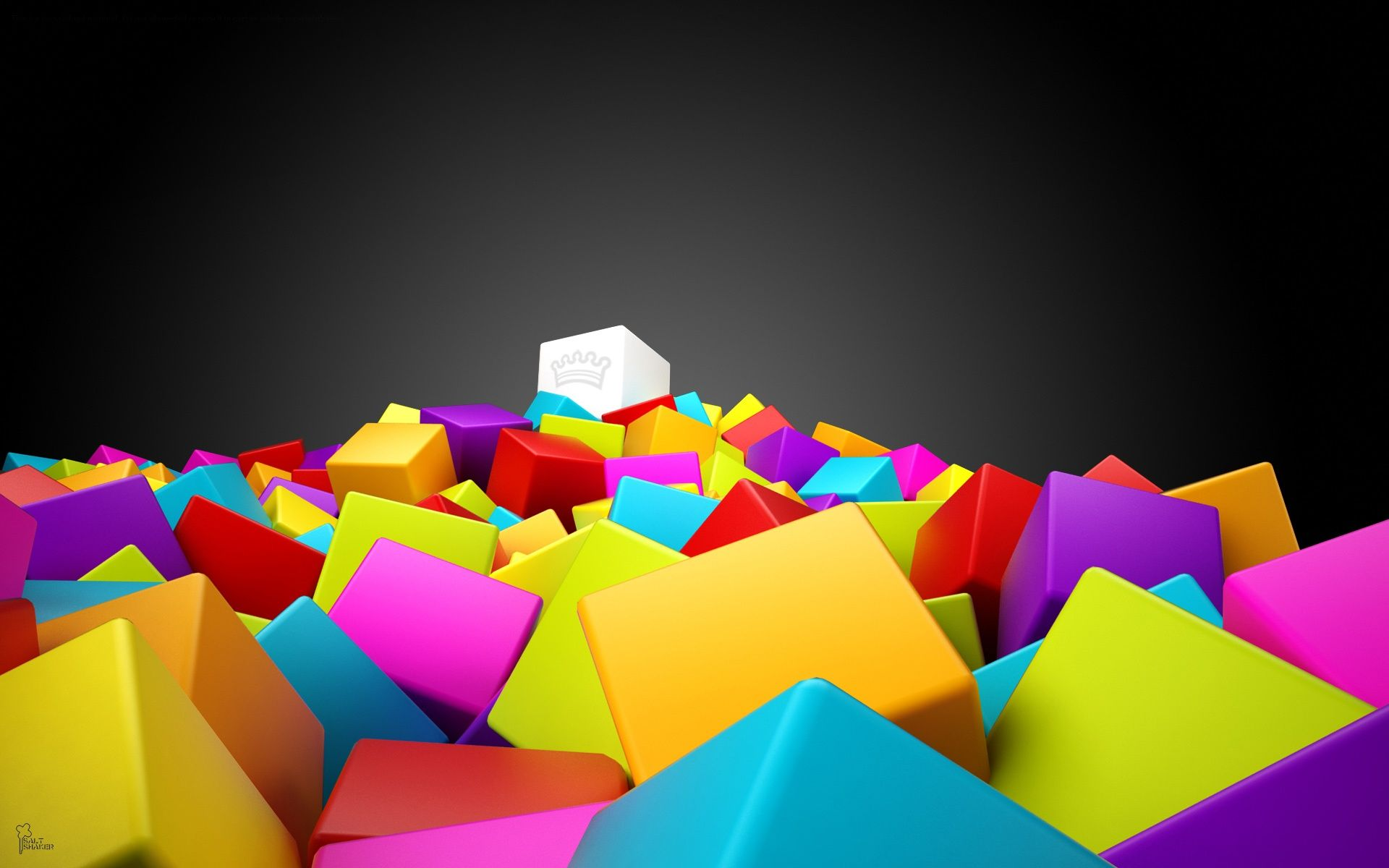 3d Colorful Squares Abstract Wallpaper Colorful Wallpaper