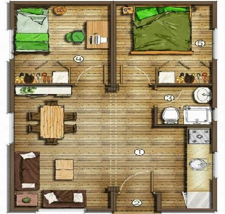 Planos de Casas Pequeñas Arquitectura - Planos y Diseños