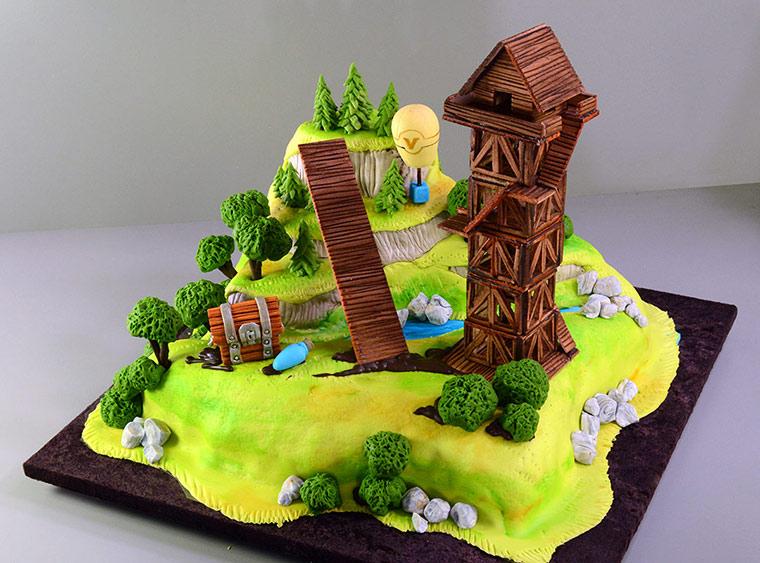 Fortnite Cake Tutorial Yeners Way in 2020 Cake kit