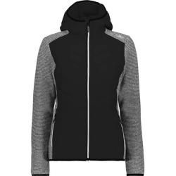 Photo of Cmp Damen Sweatshirt Woman Jacket Fix Hood Hybrid, Größe 46 In Nero, Größe 46 In Nero F.lli Campagno