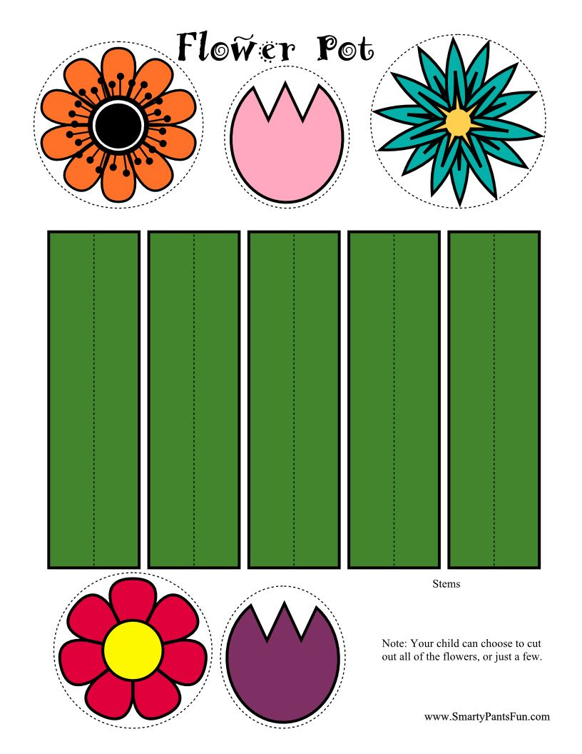 Flower Pot Color Activity Page... great scissor practice! | Fun in ...