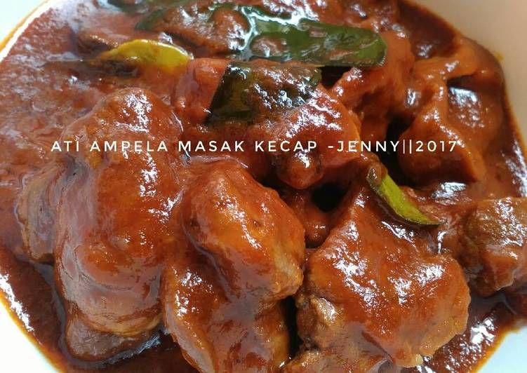 Resep Ati Ampela Masak Kecap Oleh Jenny Resep Resep Masakan Asia Makanan Masakan Indonesia