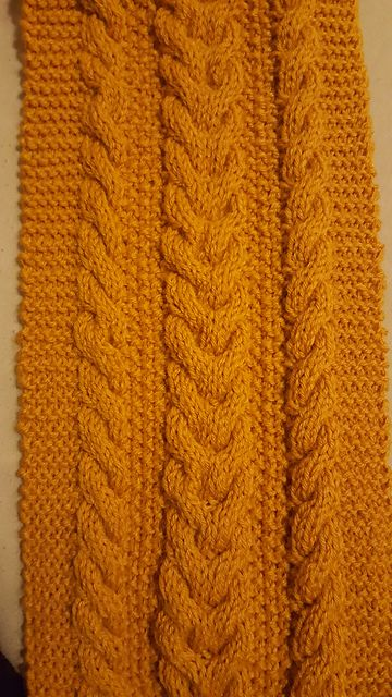 Knit this chunky cable scarf by Juliet Norvig with Lion Brand Wool ...