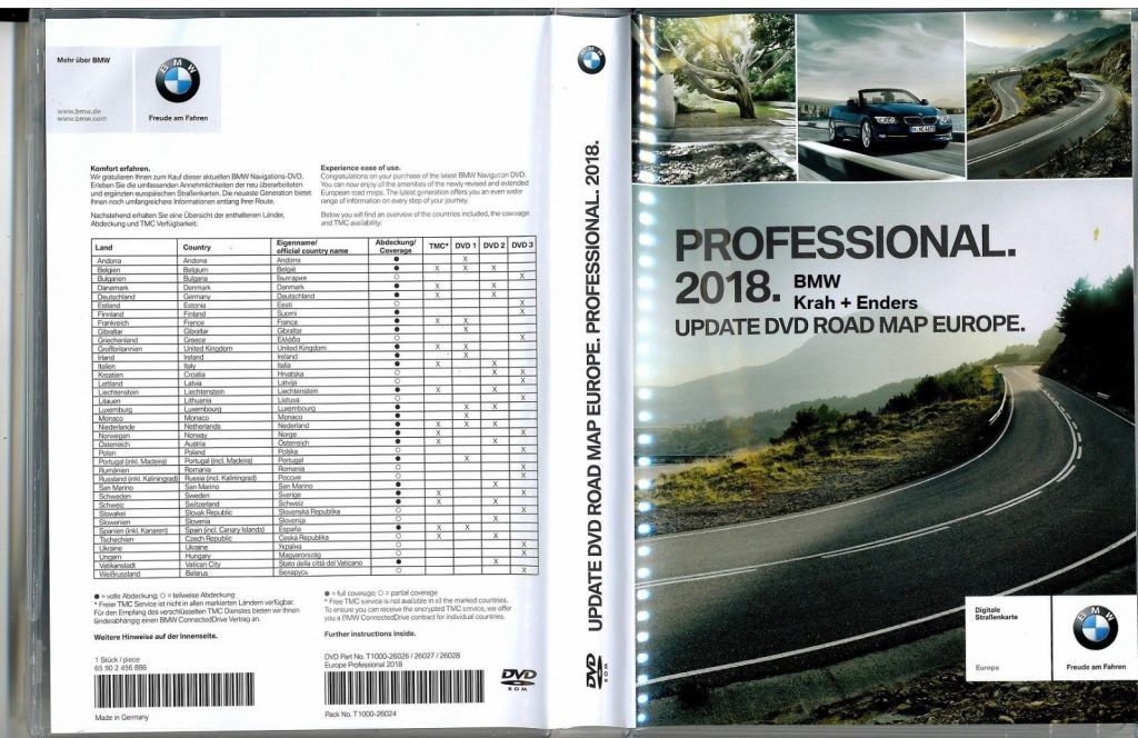 BMW Navi DVD 2018 Europa Professional Map – GPS Underground | Places