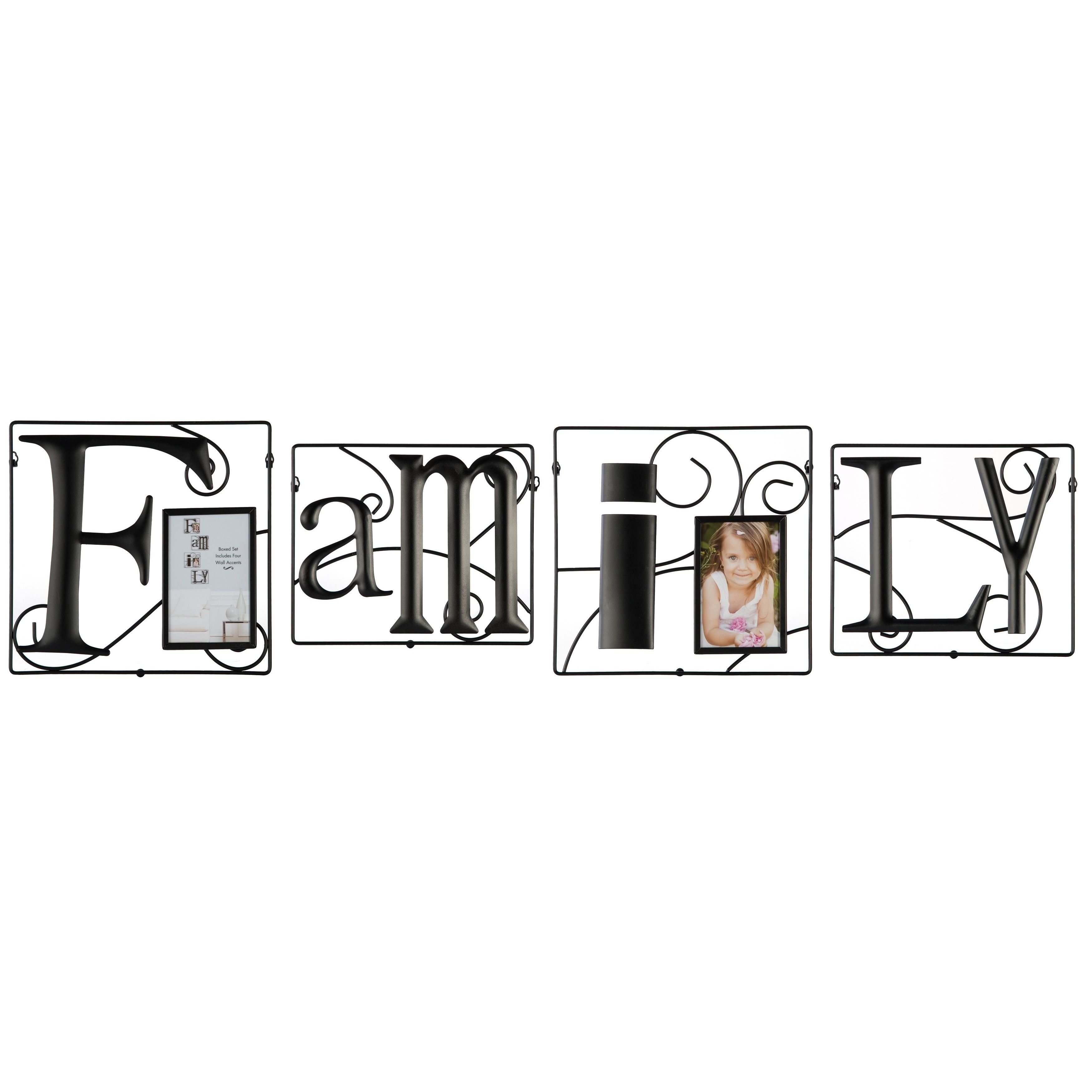 Family 4 Piece Wire Photo Collage Frame