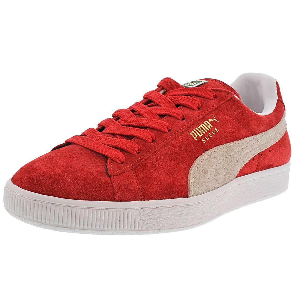 1665fd6d3333 Puma - Men s Suede Classic + Low Sneaker - High Risk Red White ...