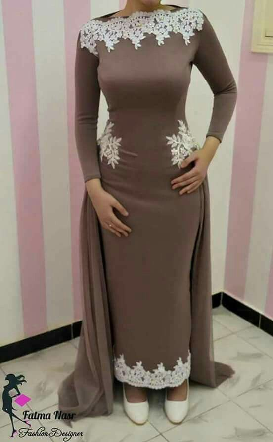 3c55410964f2 Coffee colour dress for evening Hijab Dress
