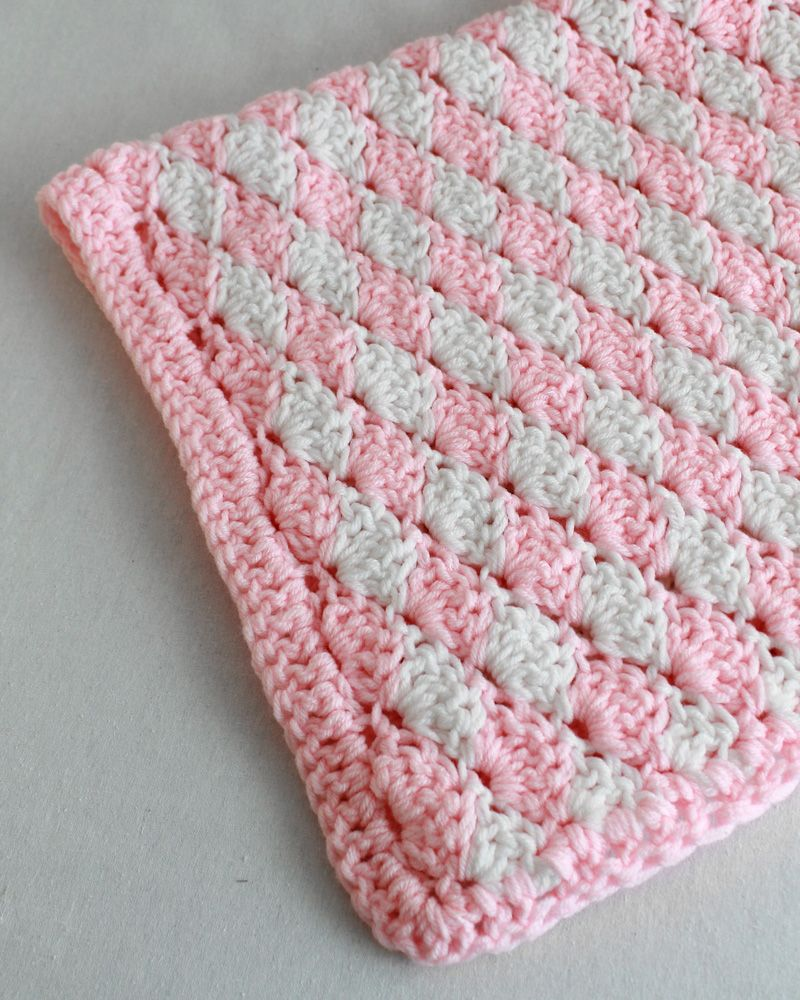 Shell Crochet Stitch Pattern & Video:Change Color Every Row Pattern ...