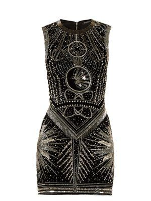 Crystal-embellished mini dress | Balmain | MATCHESFASHION UK