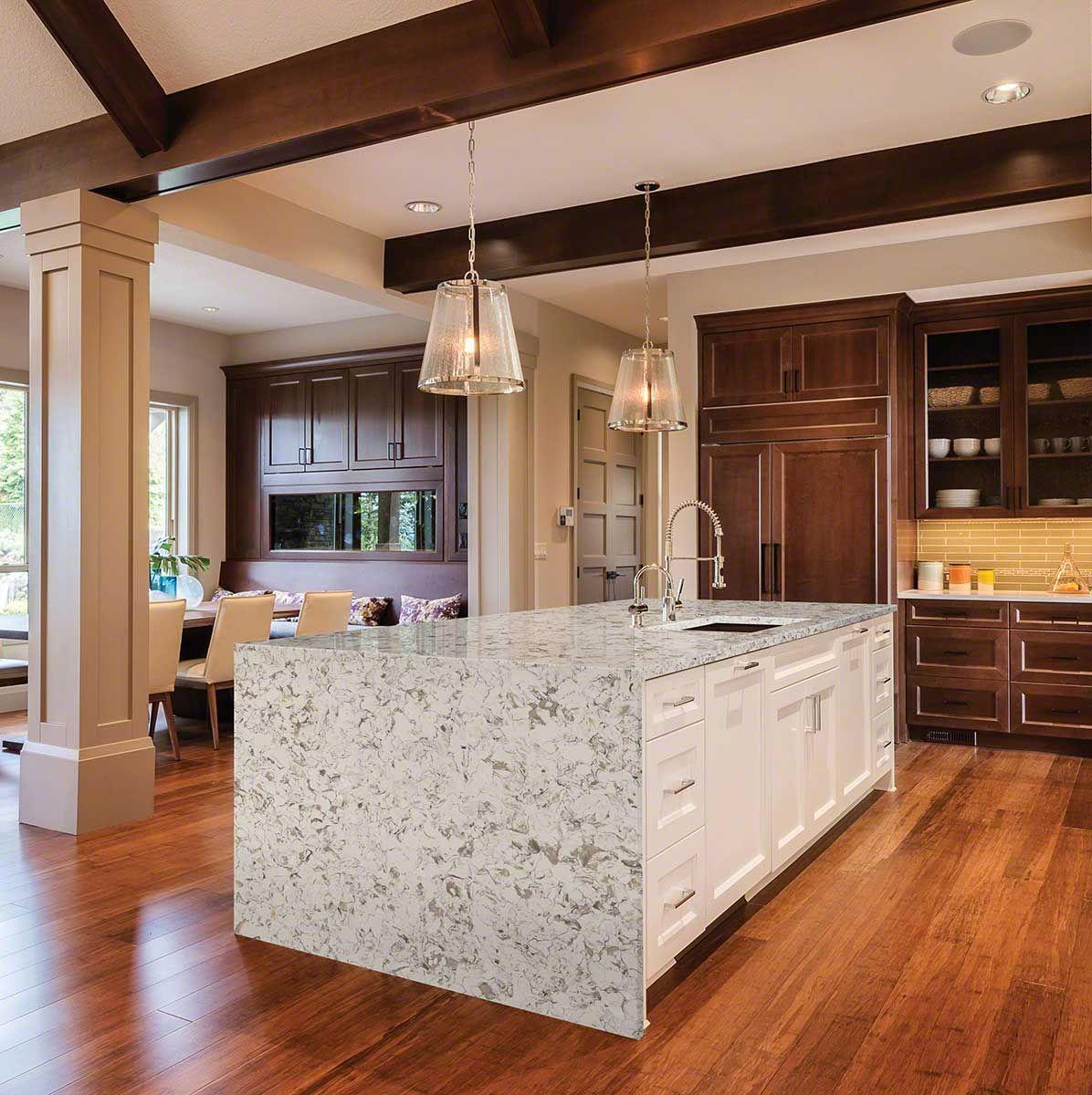 Montclair White Quartz Www Graniteworksmd Com Clean Quartz Countertops White Quartz Countertop Quartz Kitchen
