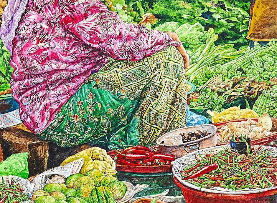Chang Fee Ming\'s work called Katijah Garden | Art - Malaysian ...