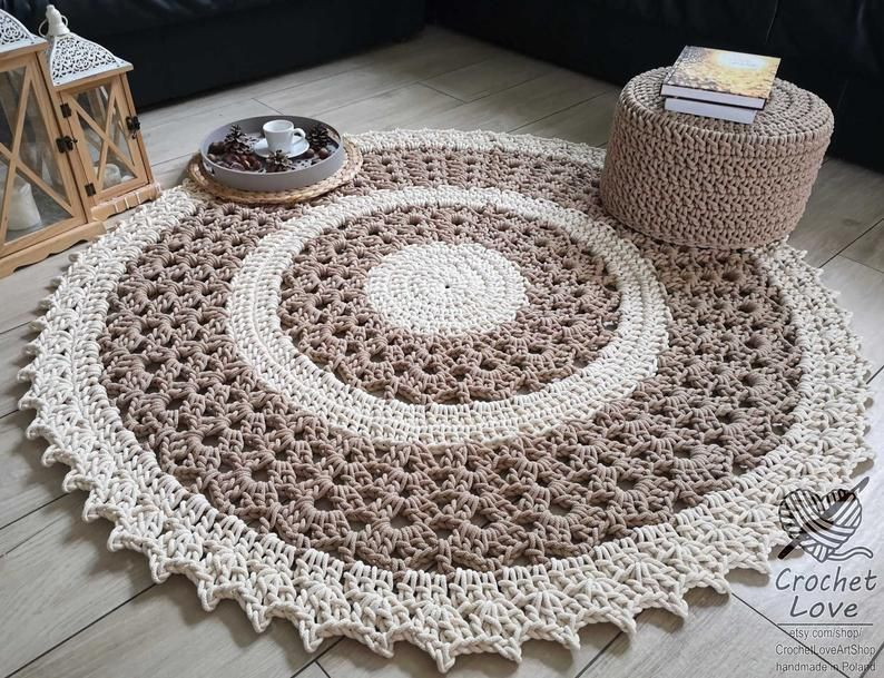 Modern Crochet Rug Round Crochet Rug Children Rug Nursery Crochet Rug Babys Rug Crochet Teppiche Crochet Carpet Hand Knitted Rug In 2020 Crochet Rug Rugs Taupe Rug
