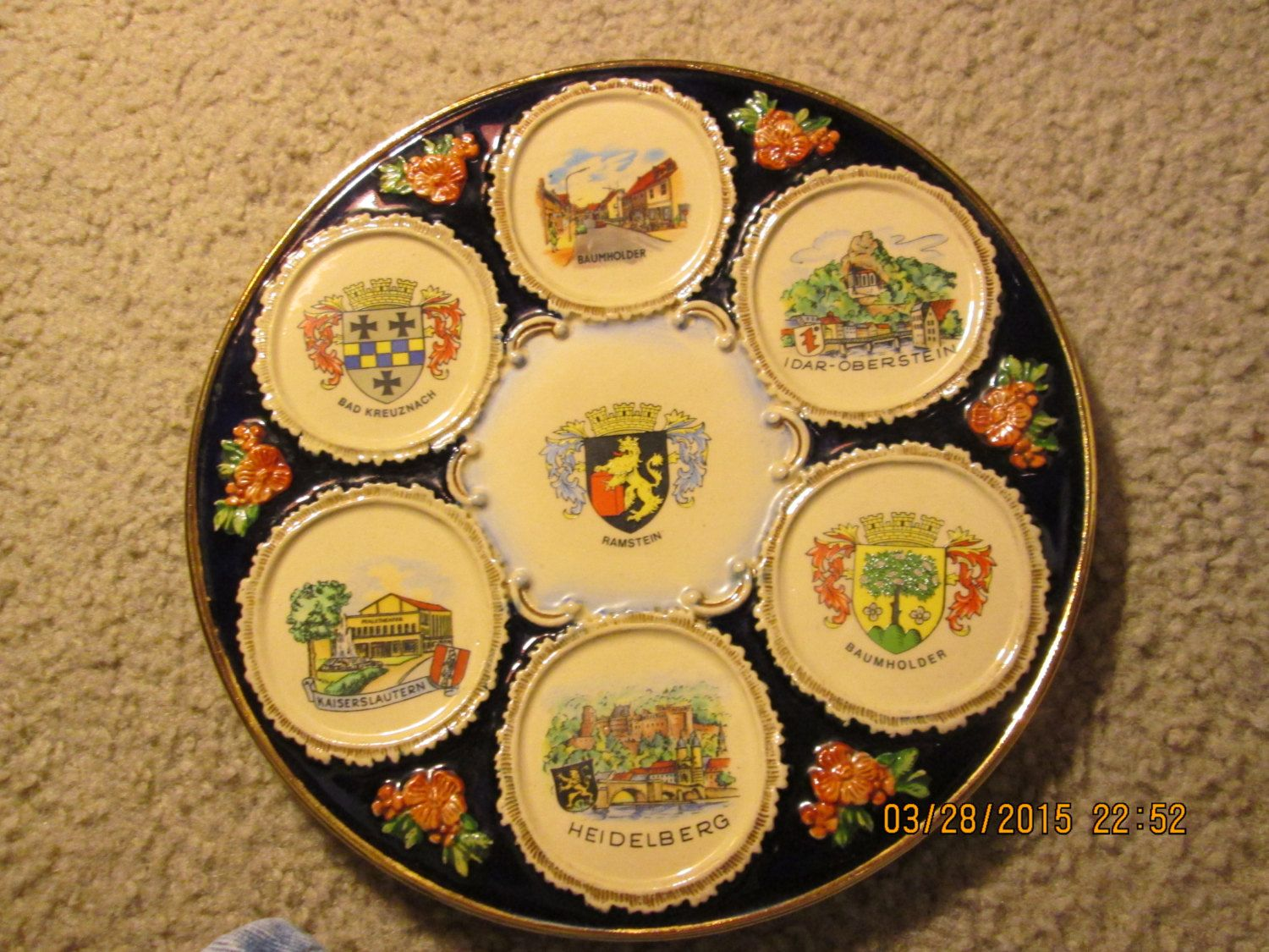 Vintage RAMSTEIN Art Pottery Wall Plate manufactured by THEWALT in ...