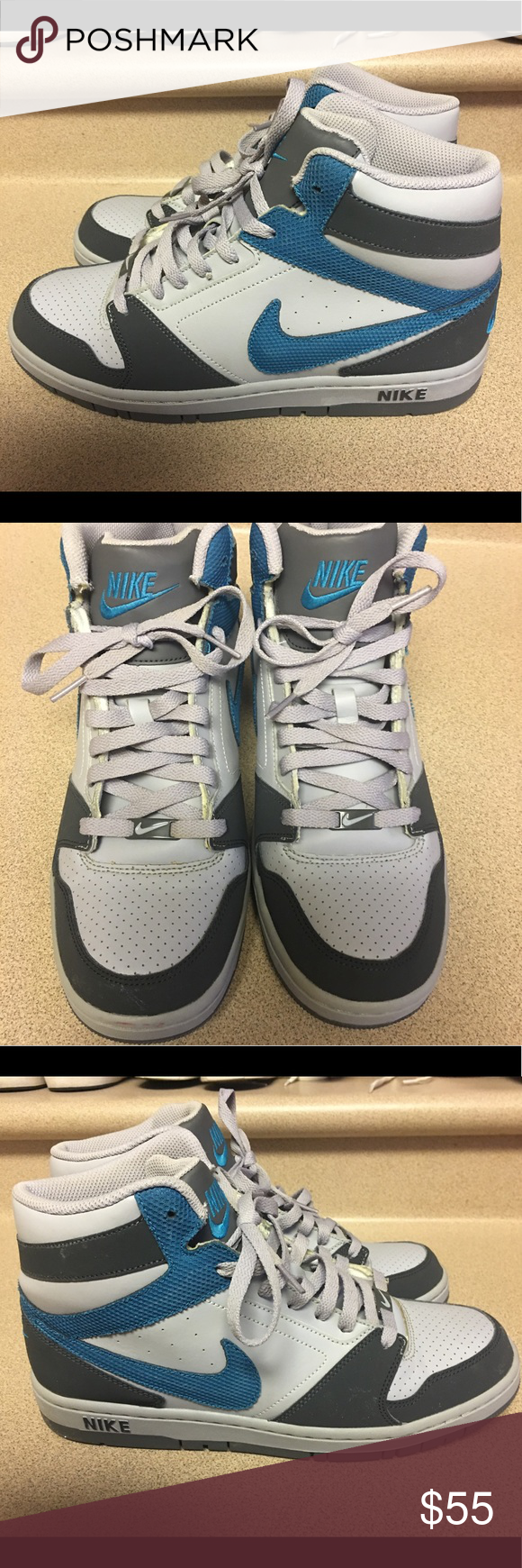 EUC Nike Prestige IV High Gray Men s Size 9.5 EUC Nike Prestige IV High  Athletic Gray Shoes Men s Size 9.5 436adeaaa