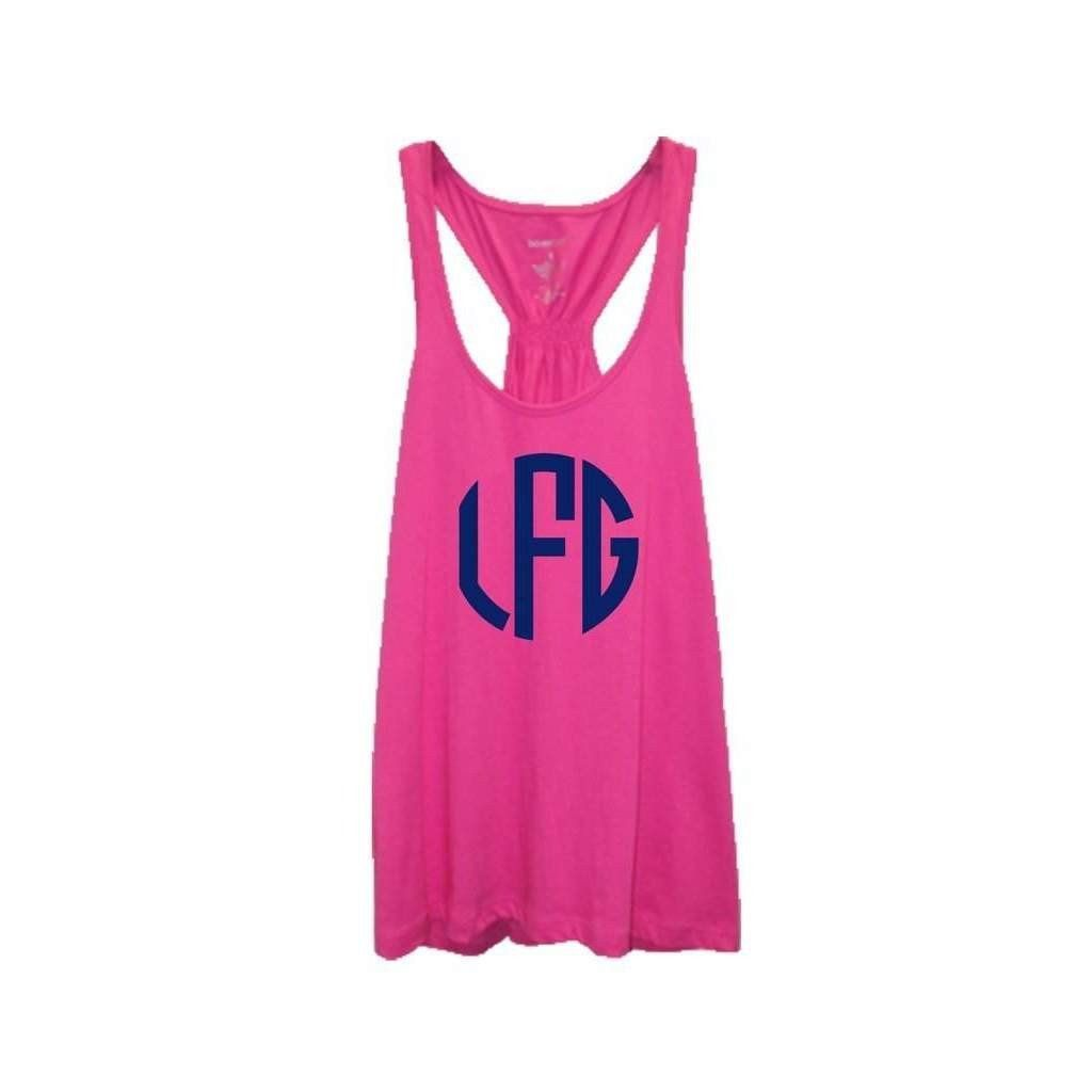 Monogrammed At Ease Flowy Flare Back Tank