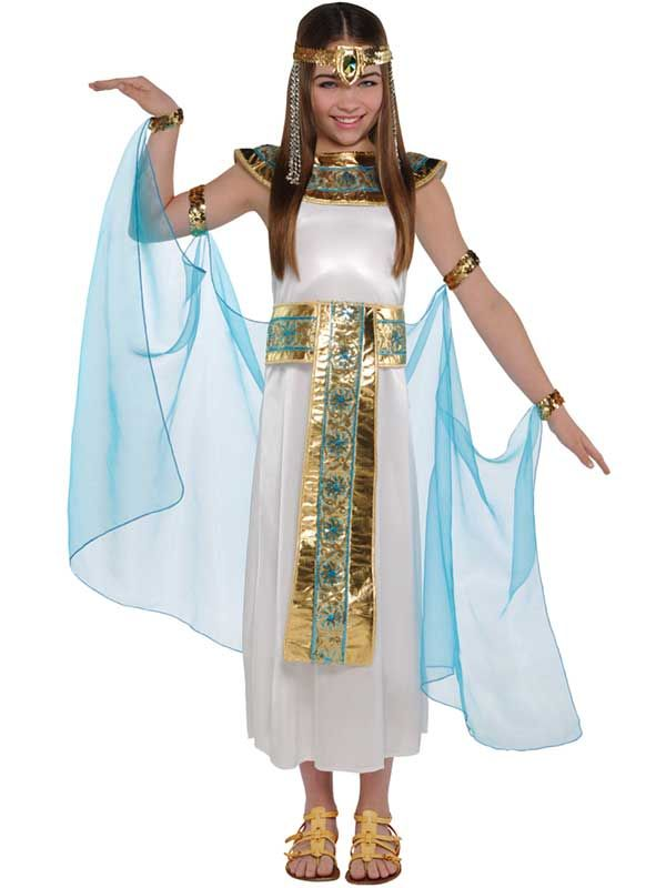 Girls Cleopatra Costume Child Egyptian Queen Toga Fancy Dress Outfit Age 4-12  sc 1 st  Pinterest & Girls Cleopatra Costume Child Egyptian Queen Toga Fancy Dress Outfit ...