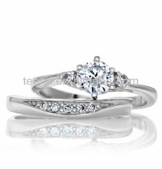 1 Petite Faux Diamond Wedding Ring Set 2 Top Quality Material 3