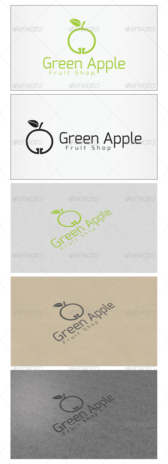 Green Apple Logo GraphicRiver Re sizable Vector EPS and