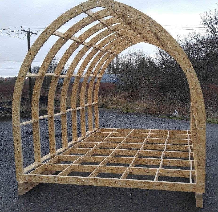 Shepherd Hut Floor Plans: Standard Glamping Pod Frame Kit 4600mm X 2950mm In 2019