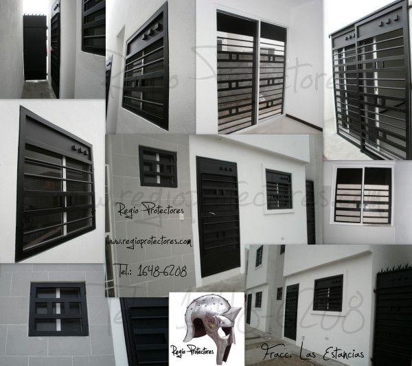 Protectores para ventanas y puertas fracc las estancias for Ventanas de aluminio en monterrey