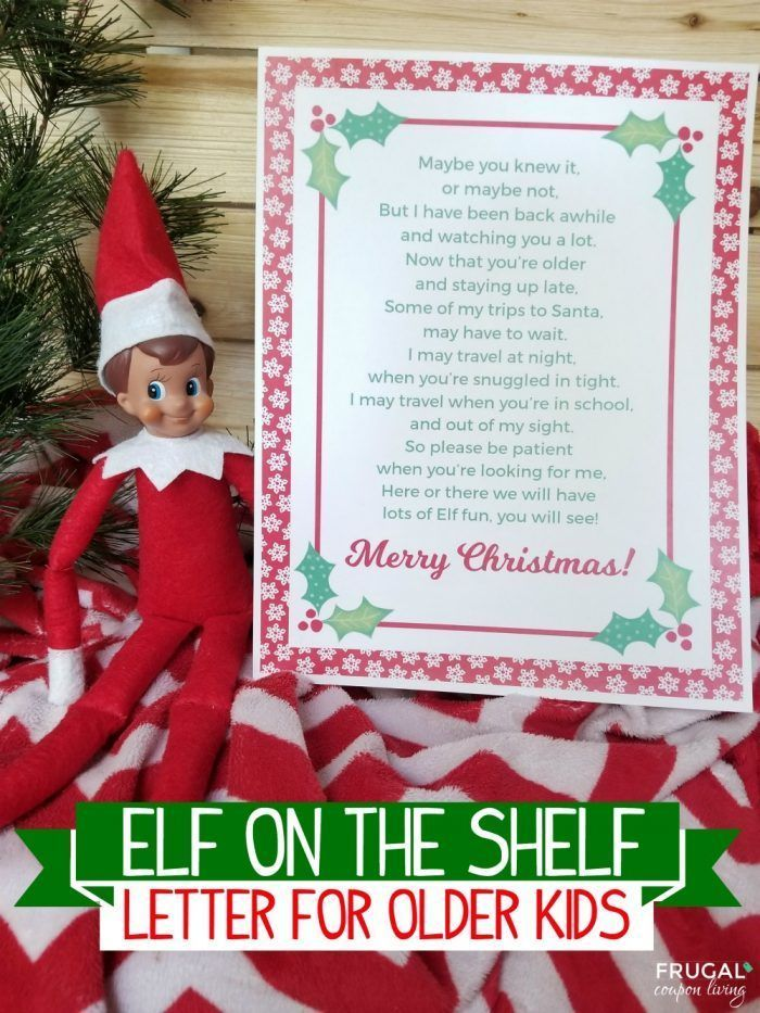Excellent No Cost Elf on the Shelf Letter to Older Kids