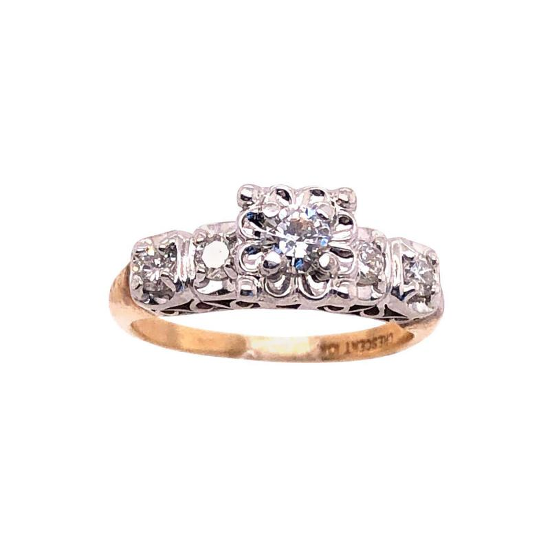 10 Karat Two Tone Gold Diamond Engagement Ring 0 60 Tdw In 2020 Engagement Rings Diamond Engagement Gold Diamond Engagement Rings