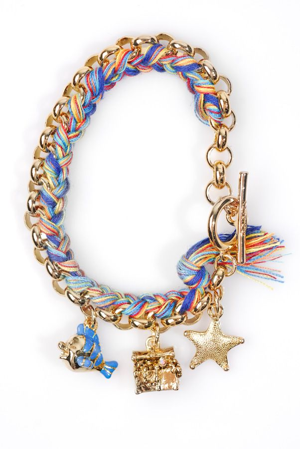 Little Mermaid Rainbow Charm Bracelet - Disney Couture. I think i could make a version of this..
