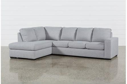 Swell Lucy Grey 2 Piece Sectional Sofa With Left Arm Facing Chaise Short Links Chair Design For Home Short Linksinfo