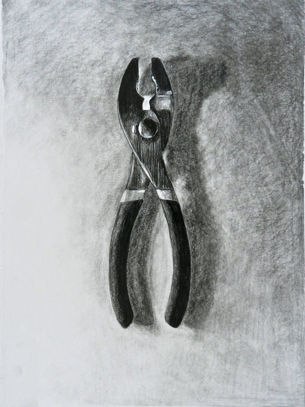 charcoal drawing of a tool - Google Search | Drawing ...