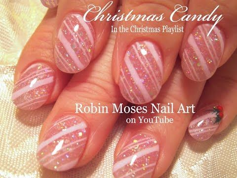 Christmas Candy Cane Stripe Nails Easy Xmas Nail Art Design